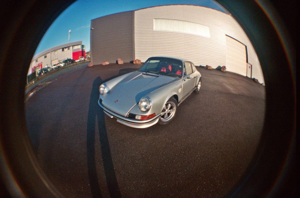 Porsche Fisheye Car