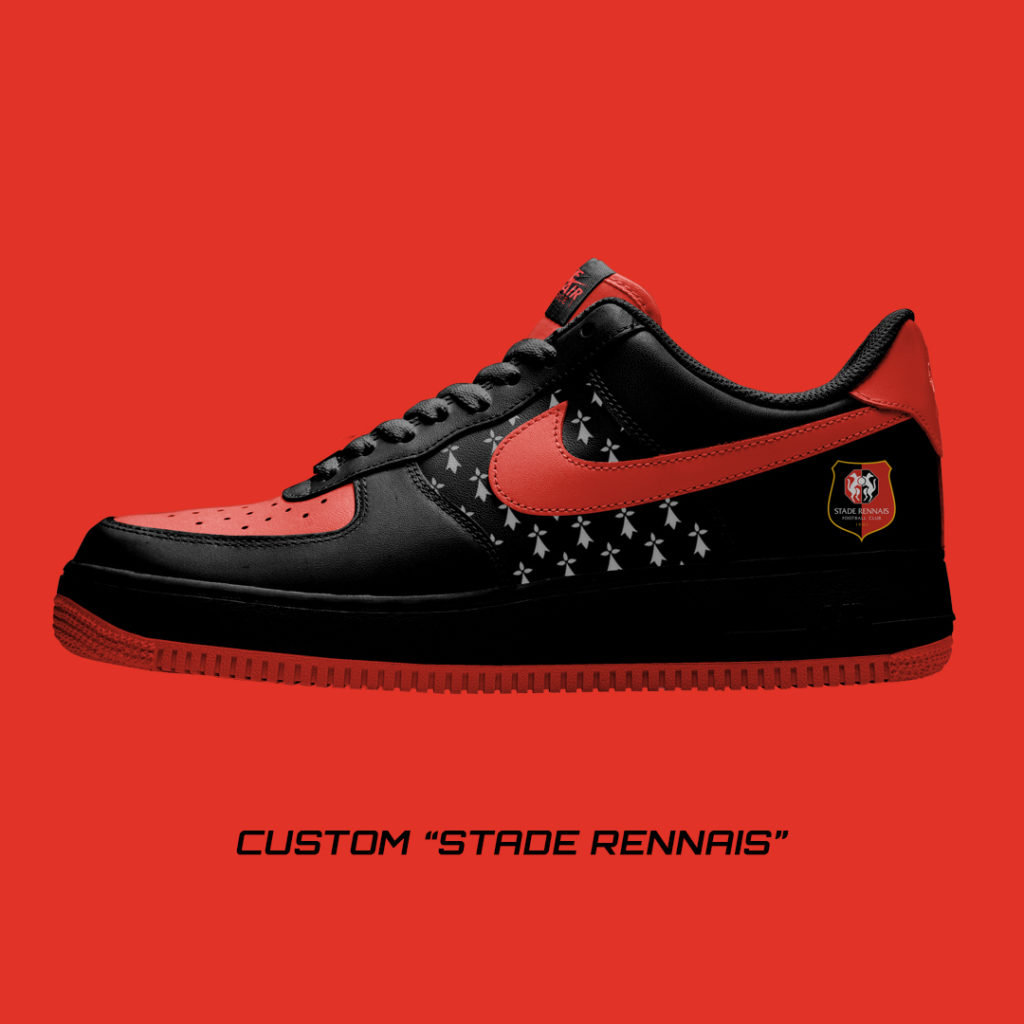 Nike Air Force One Custom Stade Rennais